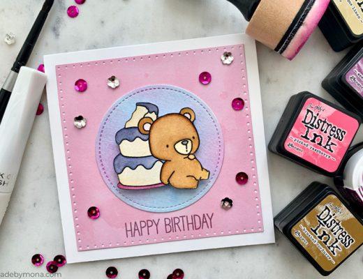 My Favorite things happy birthday distress ink main