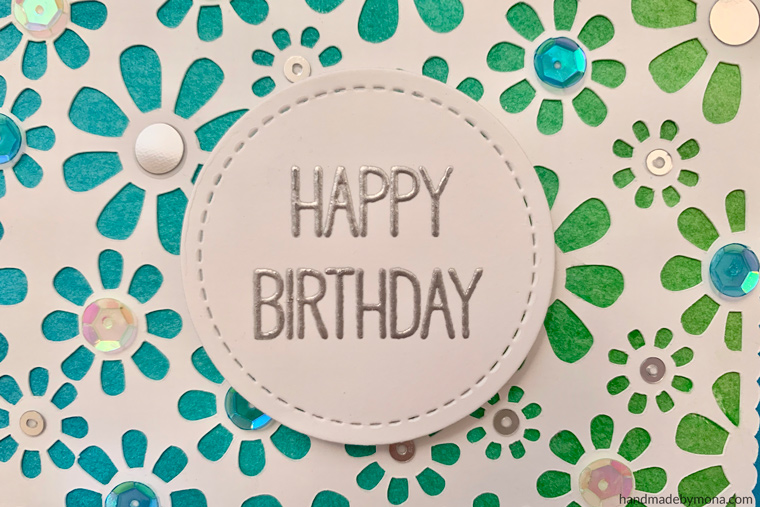 Cricut Explore Air daisy card dimension