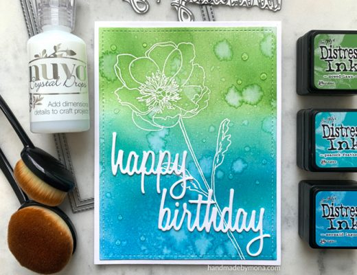 Happy Birthday Card Stampers Anonymous Tim Holtz Flower Garden
