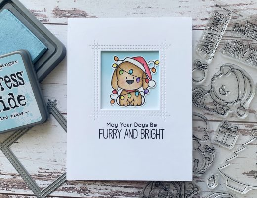 My Favorite Things Happy Pawlidays stamp set and Square Peek-a-boo dienamics