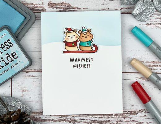 Waffle Flower Winter Hamster